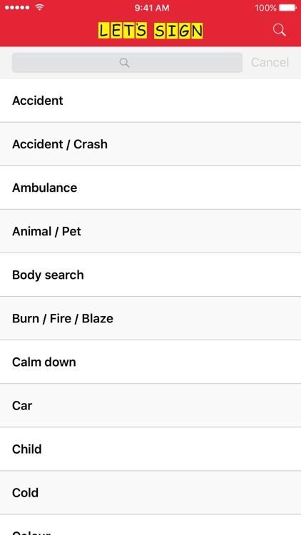 Let's Sign - In Case of Emergency screenshot-3