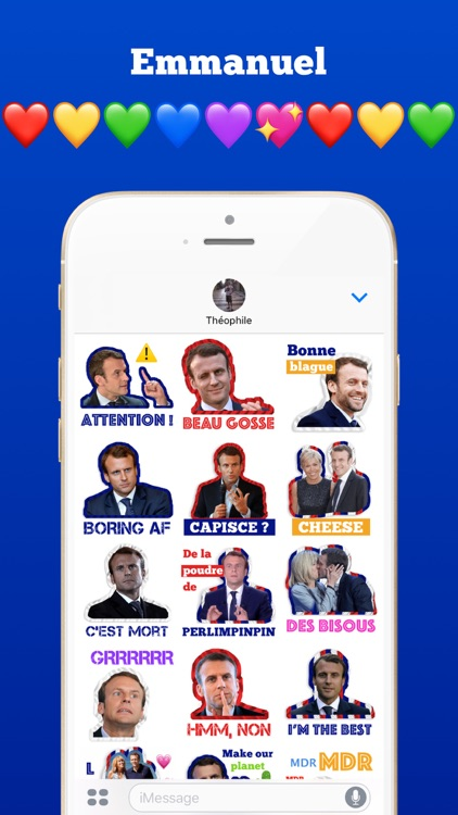 Macron Président 2017-2022 Stickers autocollants screenshot-2
