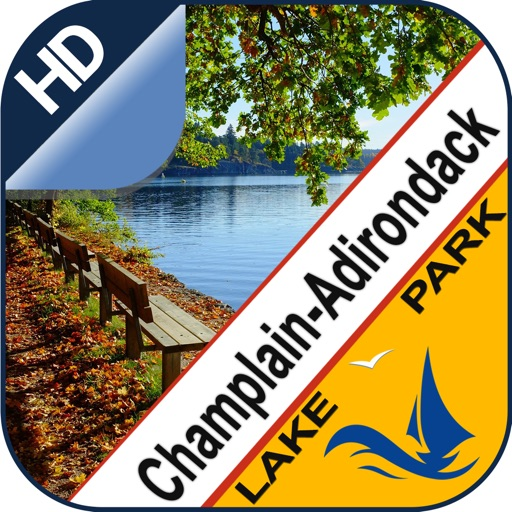 Champlain & Adirondack Mountains lake & park trail