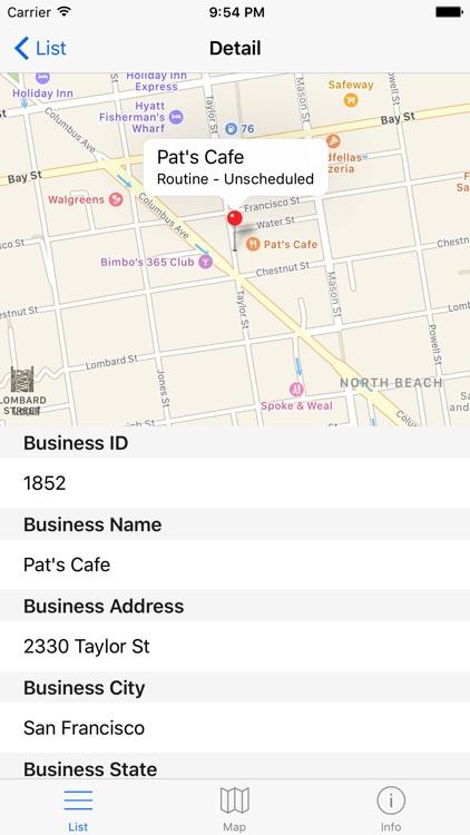 San Francisco Food Inspections - California Health screenshot-4