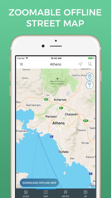 Athens Travel Guide with Offline Street Map screenshot three