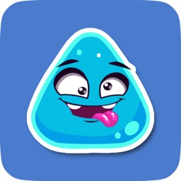 Blue Triangle Cute Emoji Stickers for Messaging