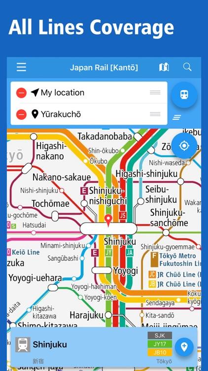 Japan Rail Map - Transit of Tokyo, Osaka & Japan