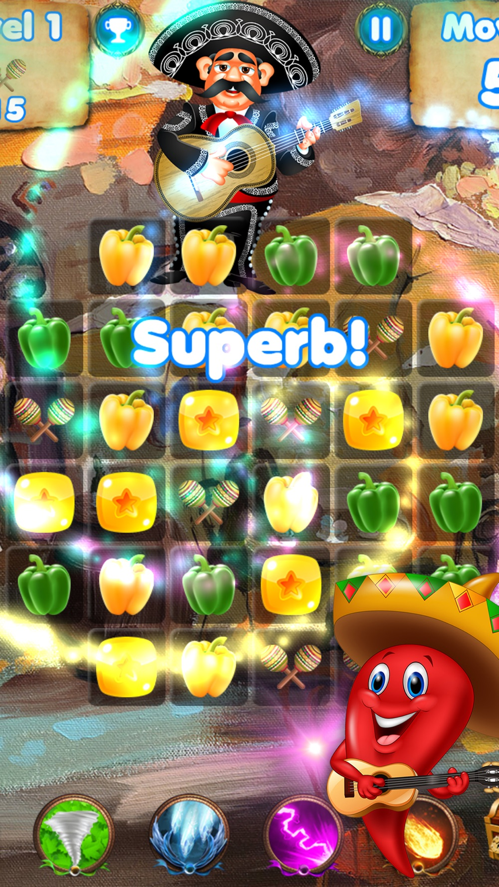 Salsa Swap – match spanish candy puzzle game Cheat Codes