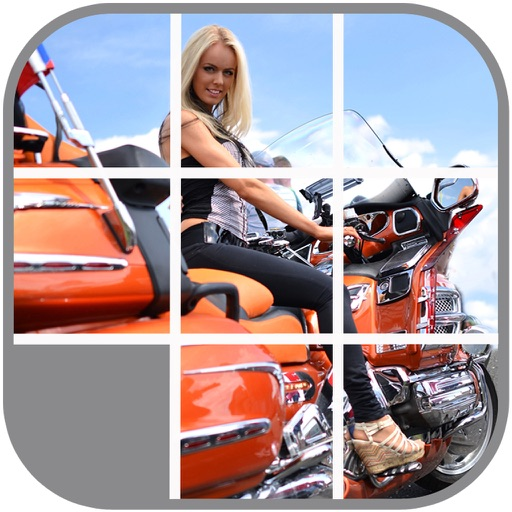 Hot Babes on Hot Bikes Sliding Puzzle iOS App