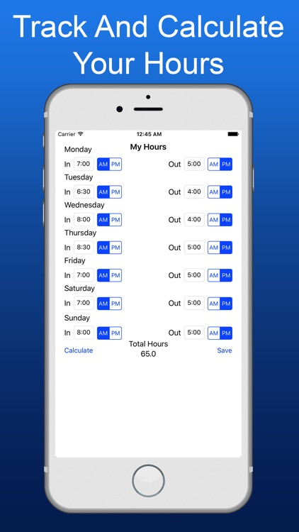 My Hours - Hours Calculator