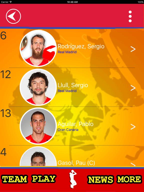 Spanish Basketball Team screenshot 6