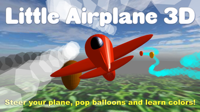 Little Airplane 3D for kids: learn colors, numbers screenshot one