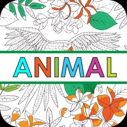 Animal Colorful - Coloring Book for Adults