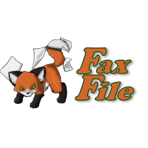 FaxFile - send fax from iPhone or iPad app logo