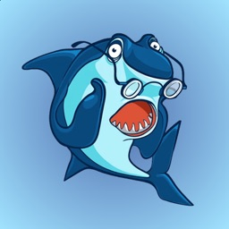 Angry Shark Stickers for iMessage