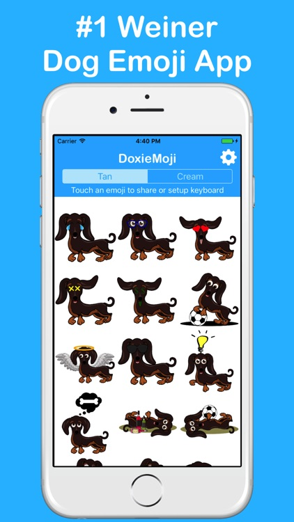 DoxieMoji - Dachshund Love Weinermoji & Stickers screenshot-0