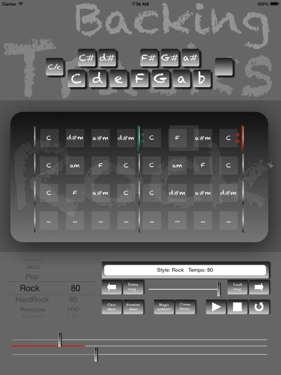 Rock Backing Tracks Creator Pro screenshot-0