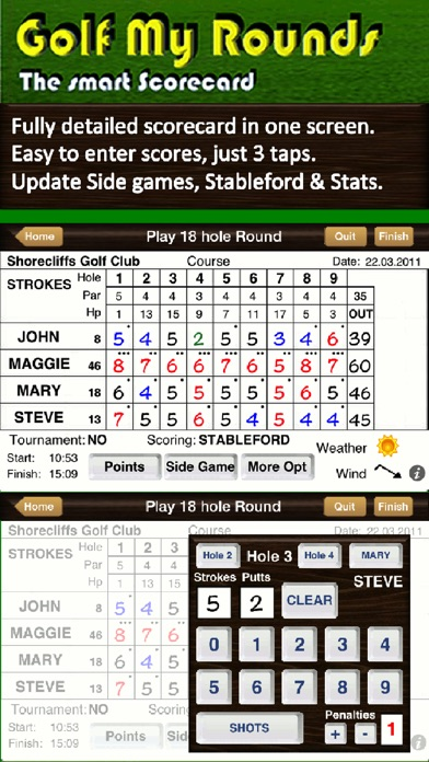 Screenshot for Golf My Rounds in Switzerland App Store