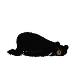 Cute Black Bear Sticker