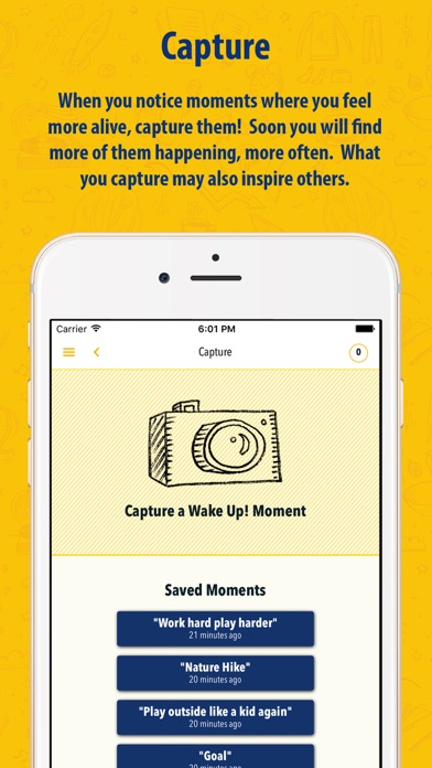 Wake Up! App: Escaping a Life on Autopilot screenshot one