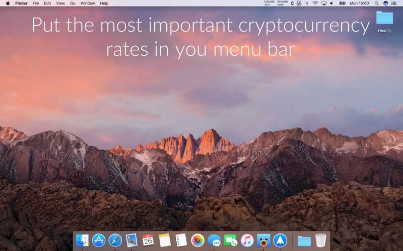 Cryptey: coin rates in menubar Screenshots