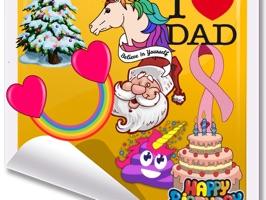 i Love Holiday Stickers