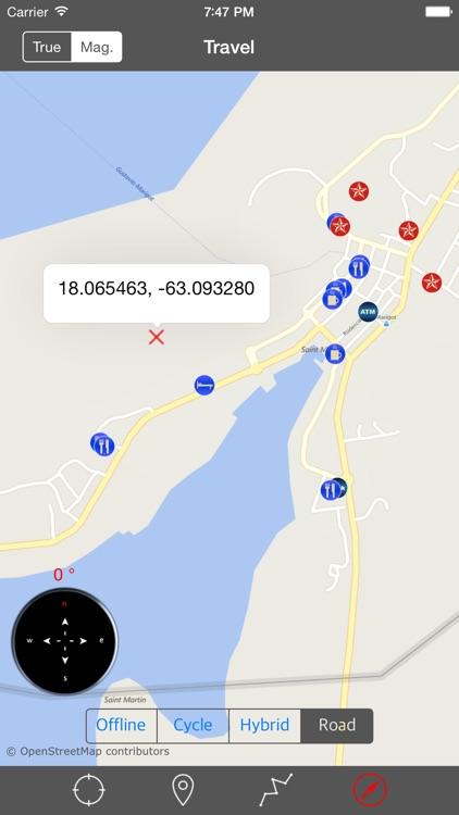 SAINT MARTIN – GPS Travel Map Offline Navigator screenshot-4