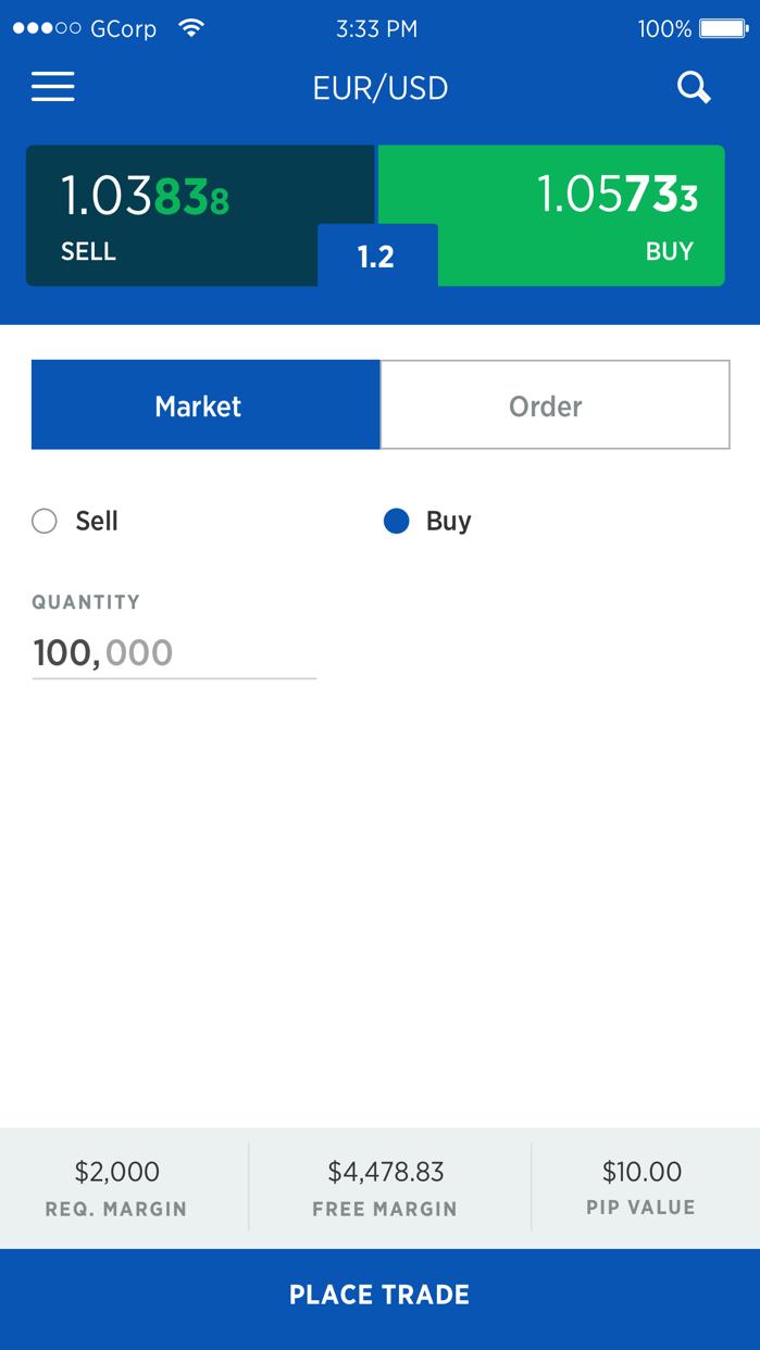 FOREX.com Mobile Screenshot