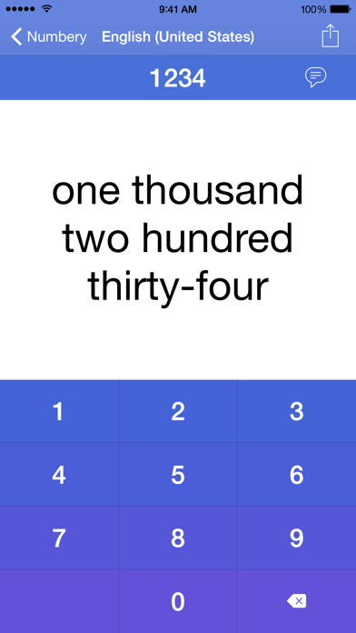 Numbery : convert numbers into words screenshot one