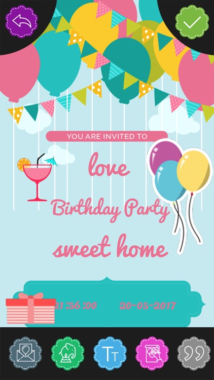 Custom Birthday Invitation Card maker screenshot-4