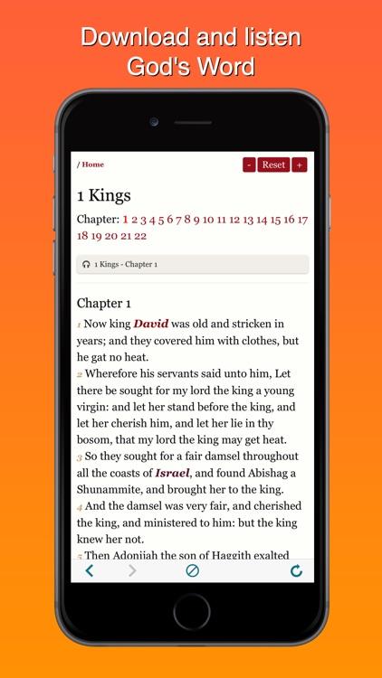 King James Version Bible Offline:KJV Audiobook MP3 screenshot-4
