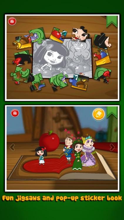 Grimm's Snow White ~ 3D Interactive Pop-up Book screenshot-3