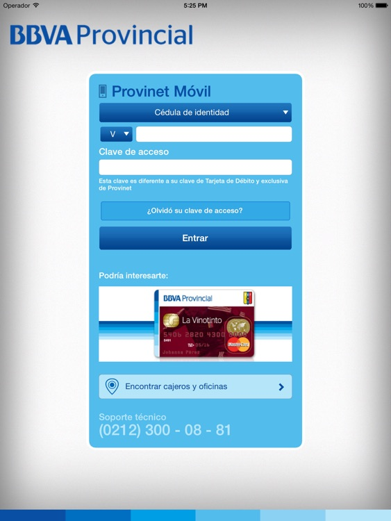 BBVA Provinet Móvil | Venezuela para iPad screenshot-0