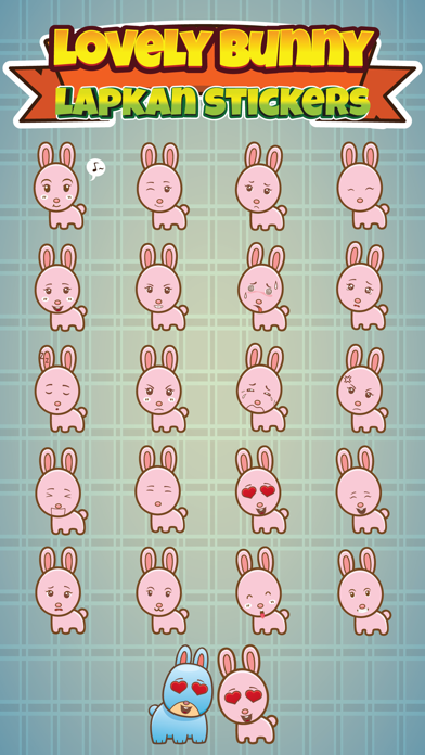 Sticker Me Lovely Bunny screenshot one