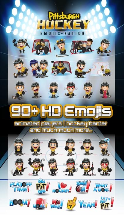Pittsburgh Hockey Emojis & Stickers Yellow & Black