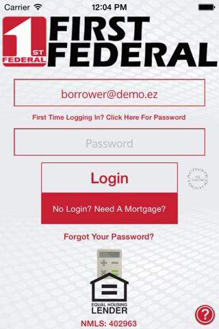 1st Federal Savings Mtg Asst. screenshot 1