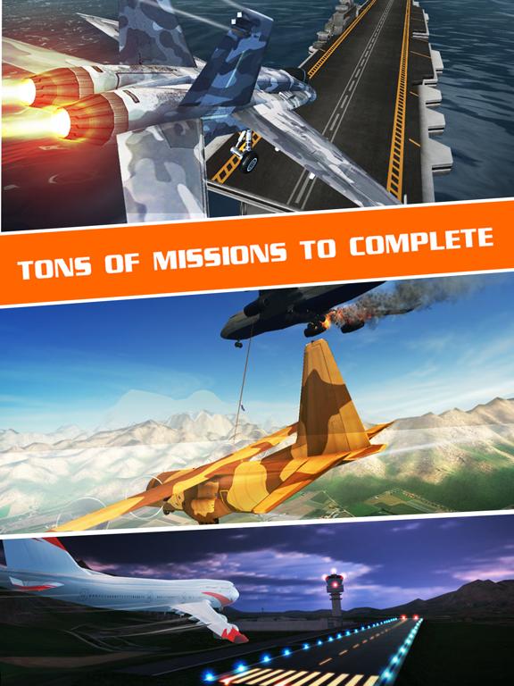 Скачать Полет Пилот - симулятор самолета игры 3D