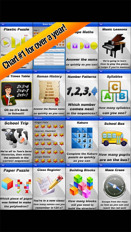 Brain School ™ Word, Puzzle & Logic Games Training