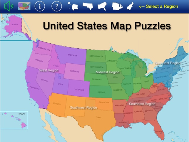 US States and Capitals Puzzle on the App Store