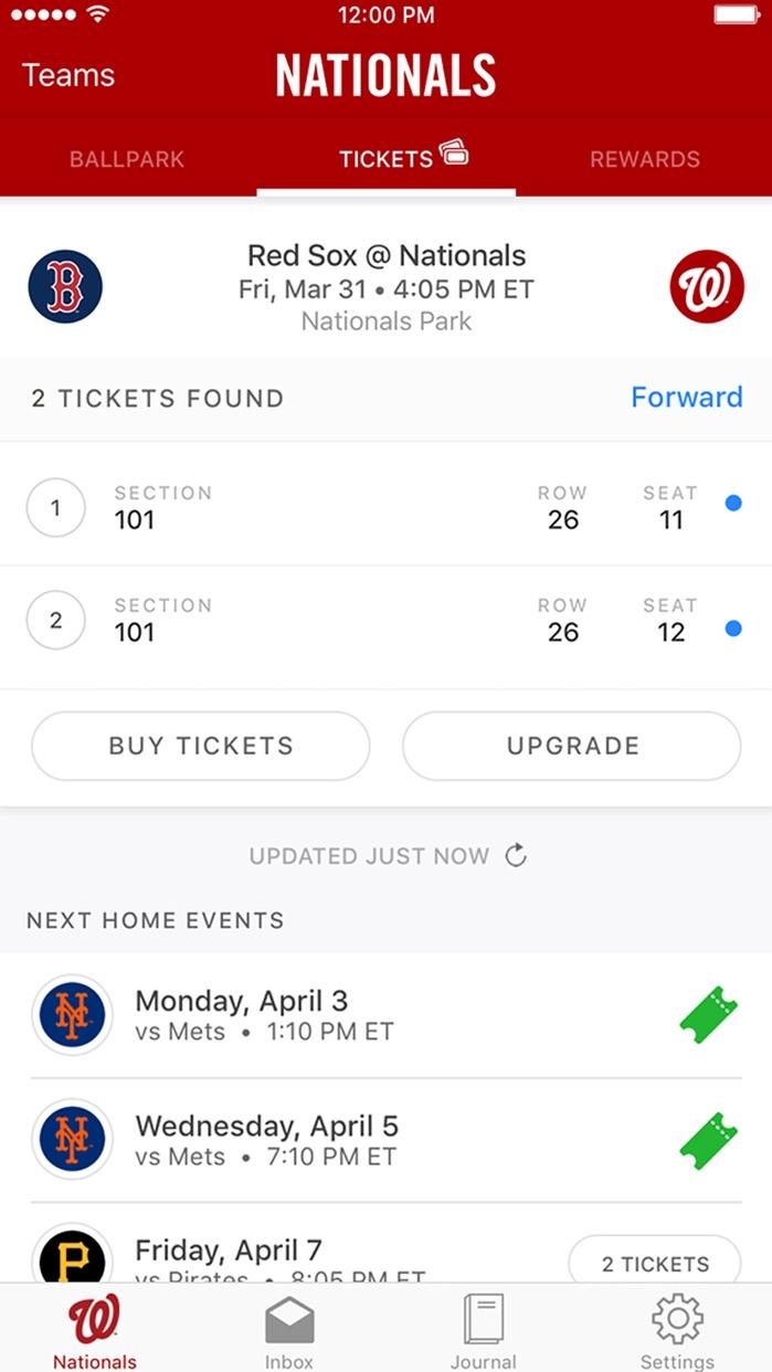 MLB.com Ballpark Screenshot