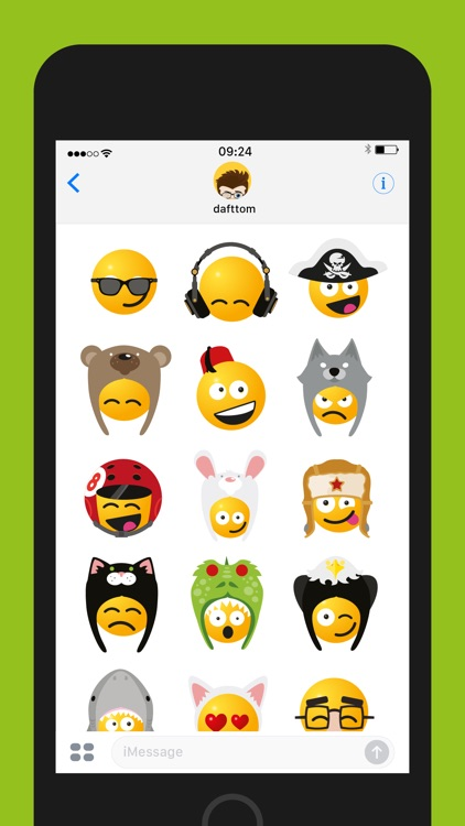 Smileys in Hats Sticker Pack