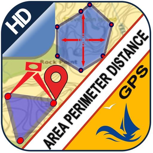 Area Distance Perimeter Measurement for Map on GPS app logo