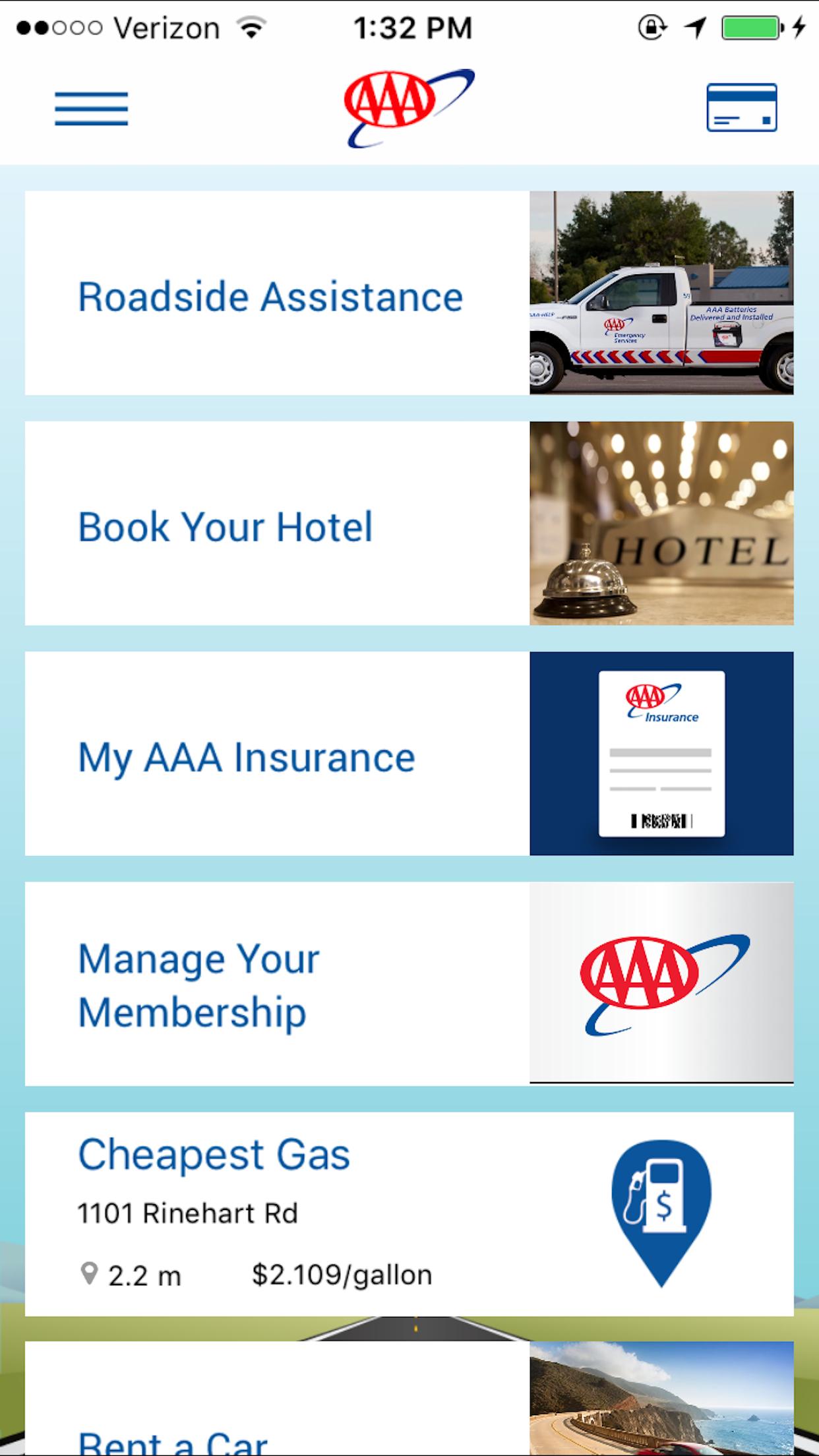 AAA Mobile Screenshot