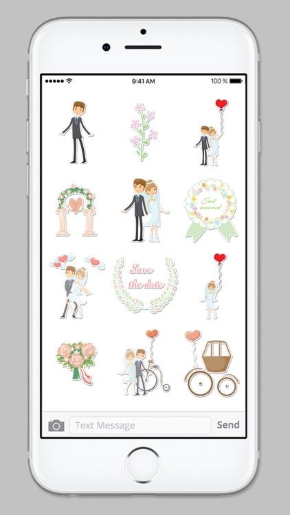 Bride and Groom Wedding Sticker Pack screenshot-4