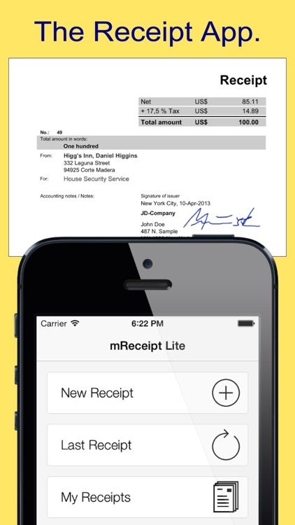 mReceipt Lite - The Receipt App screenshot-0