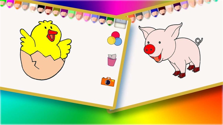 Pets Coloring Game For Children,Kids or Babies