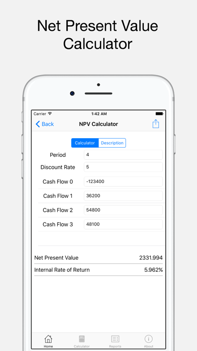 Ray Financial Calculator Screenshots