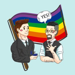 Between us – Gay Pride Stickers