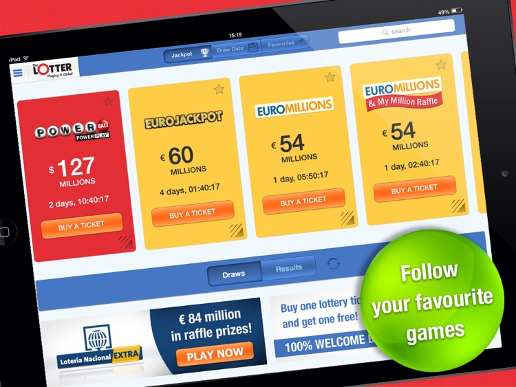 theLotter – Play Lotto on iPad screenshot-4