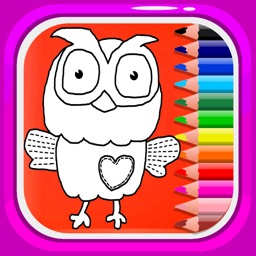 Cute Coloring Book Draw Owl World Games