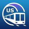 Chicago U-Bahn-Führer mit Offline Karte