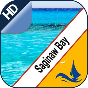Saginaw Bay GPS offline nautical chart for boaters