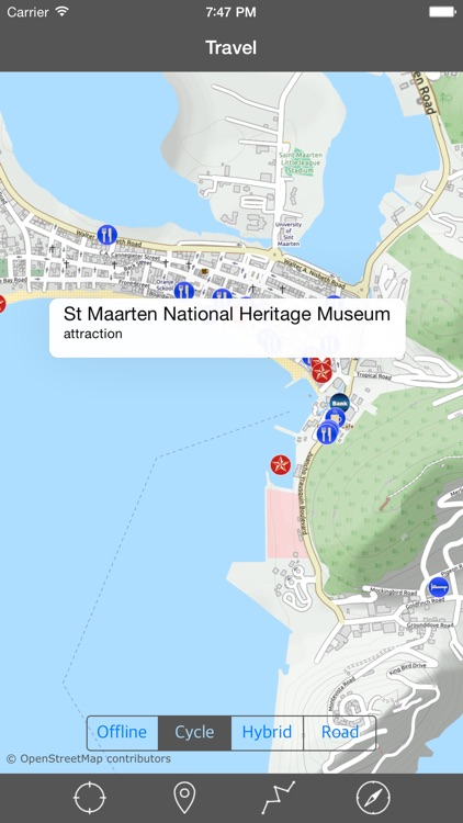 SAINT MARTIN – GPS Travel Map Offline Navigator screenshot-1