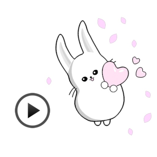 Fast Animated - Funny Cute Rabbit Sticker